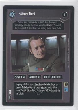 1995 Star Wars Customizable Card Game: Premiere - Expansion Set [Base] #NoN - Admiral Motti