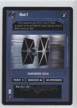 1995 Star Wars Customizable Card Game: Premiere - Expansion Set [Base] #NoN - Black 2