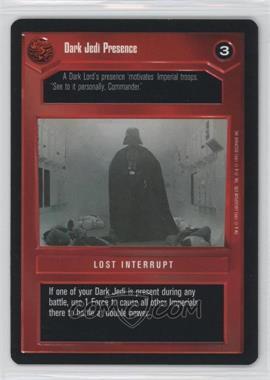 1995 Star Wars Customizable Card Game: Premiere - Expansion Set [Base] #NoN - Dark Jedi Presence
