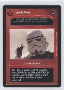 1995 Star Wars Customizable Card Game: Premiere - Expansion Set [Base] #NoN - Look Sir, Droids