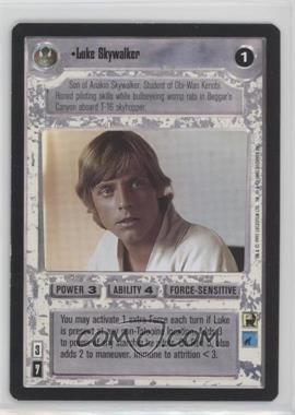 1995 Star Wars Customizable Card Game: Premiere - Expansion Set [Base] #NoN - Luke Skywalker