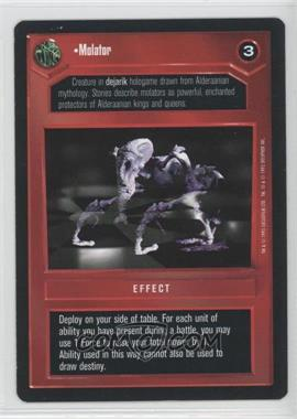 1995 Star Wars Customizable Card Game: Premiere - Expansion Set [Base] #NoN - Molator