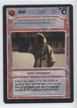 1995 Star Wars Customizable Card Game: Premiere - Expansion Set [Base] #NoN - Utinni! (Light)