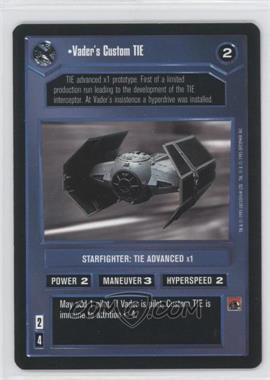 1995 Star Wars Customizable Card Game: Premiere - Expansion Set [Base] #NoN - Vader's Custom Tie