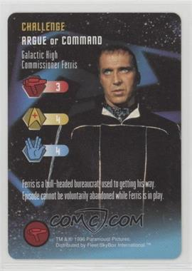 1996 Star Trek - The Card Game - [Base] #NoN - Challenge - Galactic High Commissioner Ferris