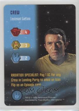 1996 Star Trek - The Card Game - [Base] #NoN - Crew - Lieutenant Gaetano
