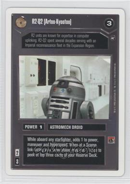 1996 Star Wars Customizable Card Game: A New Hope - Expansion Set [Base] - Unlimited White Border #NoN - R2-Q2