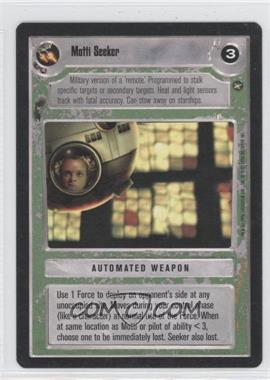 1996 Star Wars Customizable Card Game: A New Hope - Expansion Set [Base] #NoN - Motti Seeker