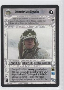 1996 Star Wars Customizable Card Game: Hoth - Expansion Set [Base] #NoN - Commander Luke Skywalker