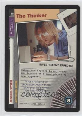 1996 The X-Files Collectible Card Game - Premiere Expansion Set #XF96-0186 - The Thinker