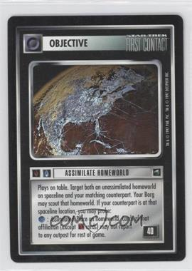 1997 Star Trek Customizable Card Game: First Contact - Expansion Set [Base] #NoN - Assimilate Homeworld