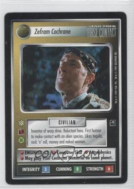 1997 Star Trek Customizable Card Game: First Contact - Expansion Set [Base] #NoN - Zefram Cochrane