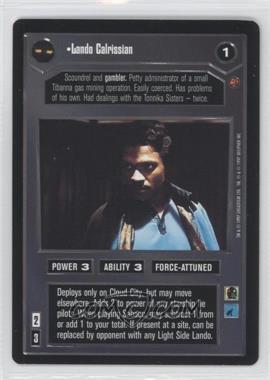 1997 Star Wars Customizable Card Game: Cloud City - Expansion Set [Base] #LACA - Lando Calrissian (Dark)