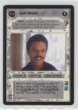 1997 Star Wars Customizable Card Game: Cloud City - Expansion Set [Base] #LACA - Lando Calrissian (Light)