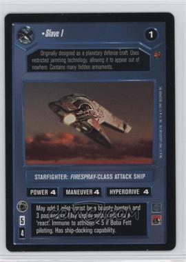 1997 Star Wars Customizable Card Game: Cloud City - Expansion Set [Base] #NoN - Slave I