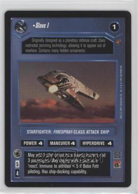1997 Star Wars Customizable Card Game: Cloud City - Expansion Set [Base] #NoN - Slave I