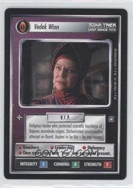 1998 Star Trek Customizable Card Game: Deep Space 9 - Expansion Set [Base] #NoN - Vedek Winn
