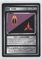 Treaty: Bajoran/Klingon