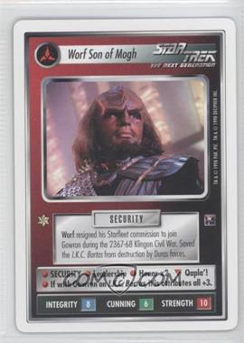1998 Star Trek Customizable Card Game: The Dominion - White Bordered Preview Set #NoN - Worf Son of Mogh