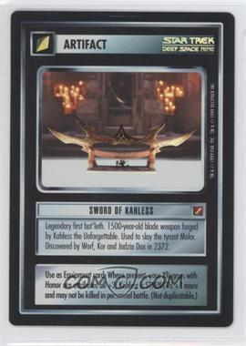 1999 Star Trek Customizable Card Game: Blaze of Glory - 18 Card Foil Sub-Set [Base] #NoN - Sword of Kahless