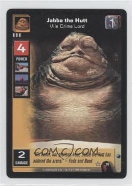 1999 Star Wars: Young Jedi Collectible Card Game - The Menace of Darth Maul - [Base] #76 - Jabba The Hutt