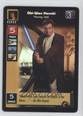 1999 Star Wars: Young Jedi Collectible Card Game - The Menace of Darth Maul - Diffraction Foils #F1 - Obi-Wan Kenobi