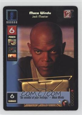 1999 Star Wars: Young Jedi Collectible Card Game - The Menace of Darth Maul - Diffraction Foils #F3 - Mace Windu