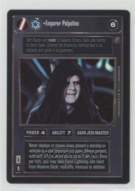2000 Star Wars Customizable Card Game: Death Star II Limited - Expansion Set [Base] #EMPA - Emperor Palpatine