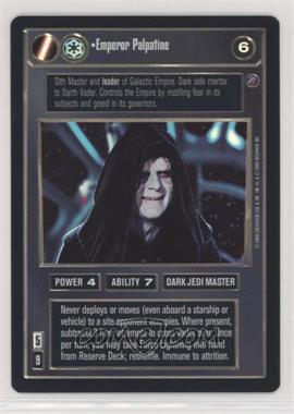 2000 Star Wars Customizable Card Game: Death Star II Limited - Expansion Set [Base] #EMPE - Emperor Palpatine