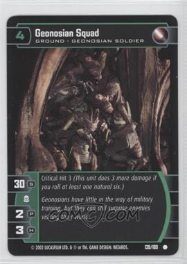 2002 Star Wars: The Trading Card Game - Attack of the Clones - Booster Pack [Base] #139 - Geonosian Squad