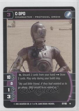 2002 Star Wars: The Trading Card Game - Attack of the Clones - Booster Pack [Base] #67 - C-3P0