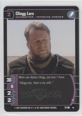 2002 Star Wars: The Trading Card Game - Attack of the Clones - Booster Pack [Base] #72 - Cliegg Lars