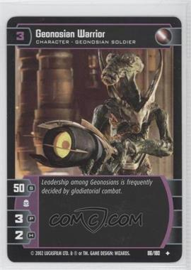 2002 Star Wars: The Trading Card Game - Attack of the Clones - Booster Pack [Base] #86 - Geonosian Warrior
