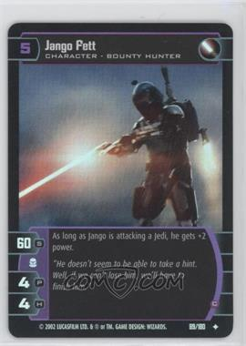 2002 Star Wars: The Trading Card Game - Attack of the Clones - Booster Pack [Base] #89 - Jango Fett