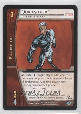 2004 VS System Marvel Origins - Booster Pack [Base] - 1st Edition #MOR-088 - Quicksilver (Pietro Maximoff)