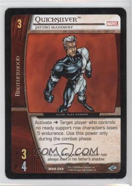 2004 VS System Marvel Origins - Booster Pack [Base] - Unlimited #MOR-088 - Quicksilver [Noted]