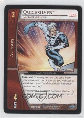 2005 VS System Marvel Avengers - Booster Pack [Base] #MAV-020 - Quicksilver