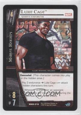2005 VS System Marvel Knights - Booster Pack [Base] #MMK-018 - Luke Cage (Street Enforcer)
