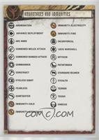 Advantage and Immunities // Weapon Qualities