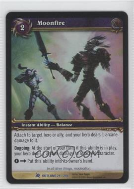 2007 World of Warcraft TCG: Fires of Outland - Booster Pack [Base] #24 - Moonfire