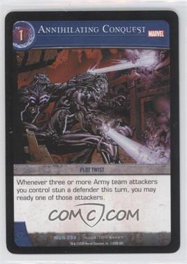 2008 VS System Marvel Universe - Booster Pack [Base] #MUN-298 - Annihilating Conquest