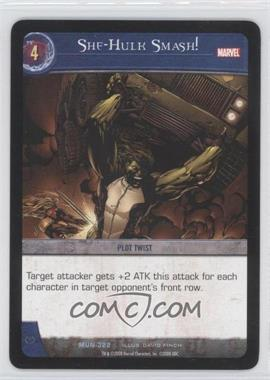 2008 VS System Marvel Universe - Booster Pack [Base] #MUN-322 - She-Hulk Smash!