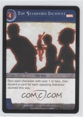 2008 VS System Marvel Universe - Booster Pack [Base] #MUN-325 - The Stamford Incident