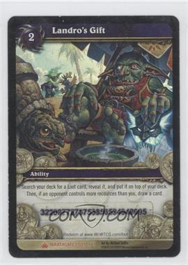 2010 World of Warcraft TCG: Wrathgate - Loot/Insert Redemptions - - Redeemed #1 - Landro's Gift