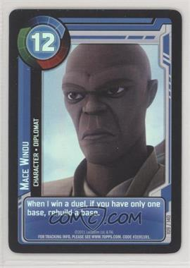 2011 Star Wars: Clone Wars Adventures - Trading Card Game [Base] #109 - Mace Windu