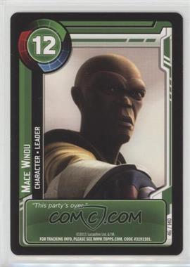 2011 Star Wars: Clone Wars Adventures - Trading Card Game [Base] #46 - Mace Windu