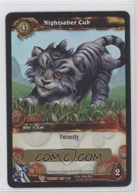 2011 World of Warcraft TCG: Twilight of the Dragons - Loot/Insert Redemptions #1 - Nightsaber Cub