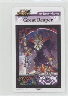 2012 Kid Icarus Uprising - Augmented Reality (AR) Cards #AKDE-013 - Underworld Army - Great Reaper