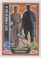 Rey, Finn, BB-8