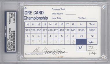 1900-Present Signed Official Scorecards - [Base] #BEGW - Ben Crenshaw, Grant Waite [PSA/DNACertifiedAuto]